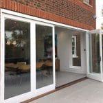 Fully glazed bifold doors