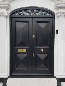 Victorian timber front door