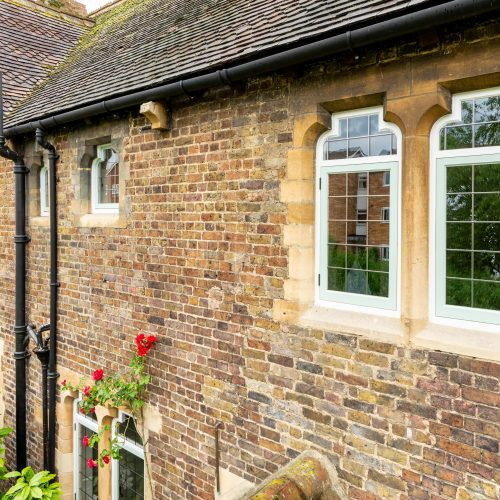 Bottle top timber casement windows