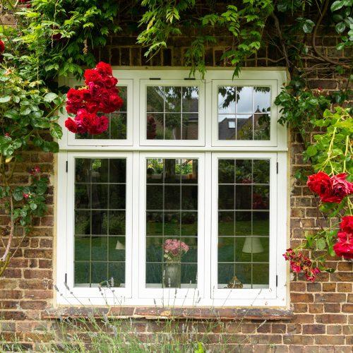 Leaded casement window