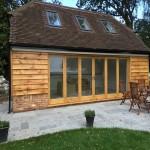 Oak bifold doors - Exterior