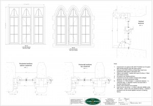 CAD drawings casement windows