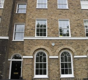 Sash windows on listed building