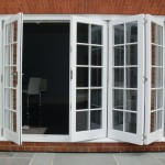 Bifold doors with glazing bars