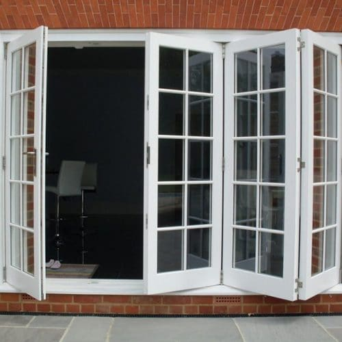 Bifold doors with glazing bars