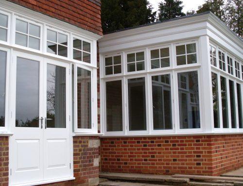 Woking: Edwardian casement windows with exact-match mouldings