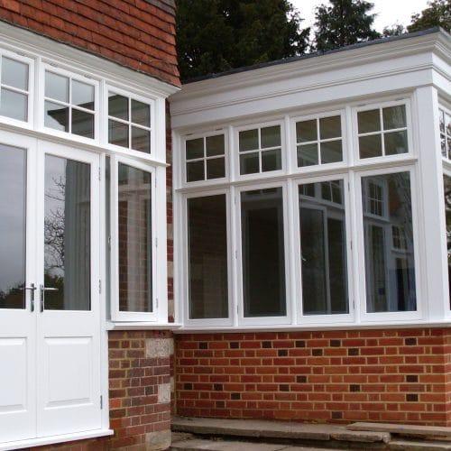 Edwardian French doors & casement windows