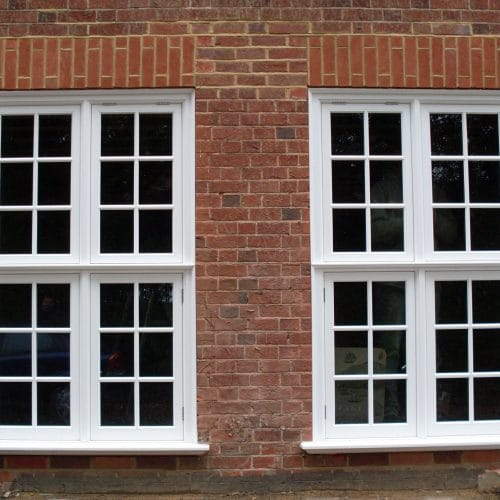 Edwardian timber casement windows