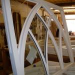 Gothic sash windows in factory