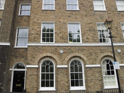 Slimline double glazing, sash windows, Listed building