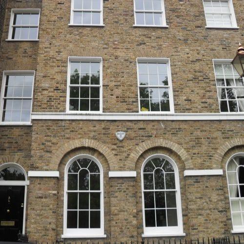 Slimline double glazing, sash windows, Listed building