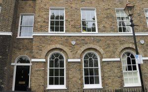 Double glazed Grade II listed building in Greenwich