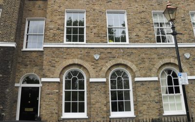 Double glazed listed building, Greenwich
