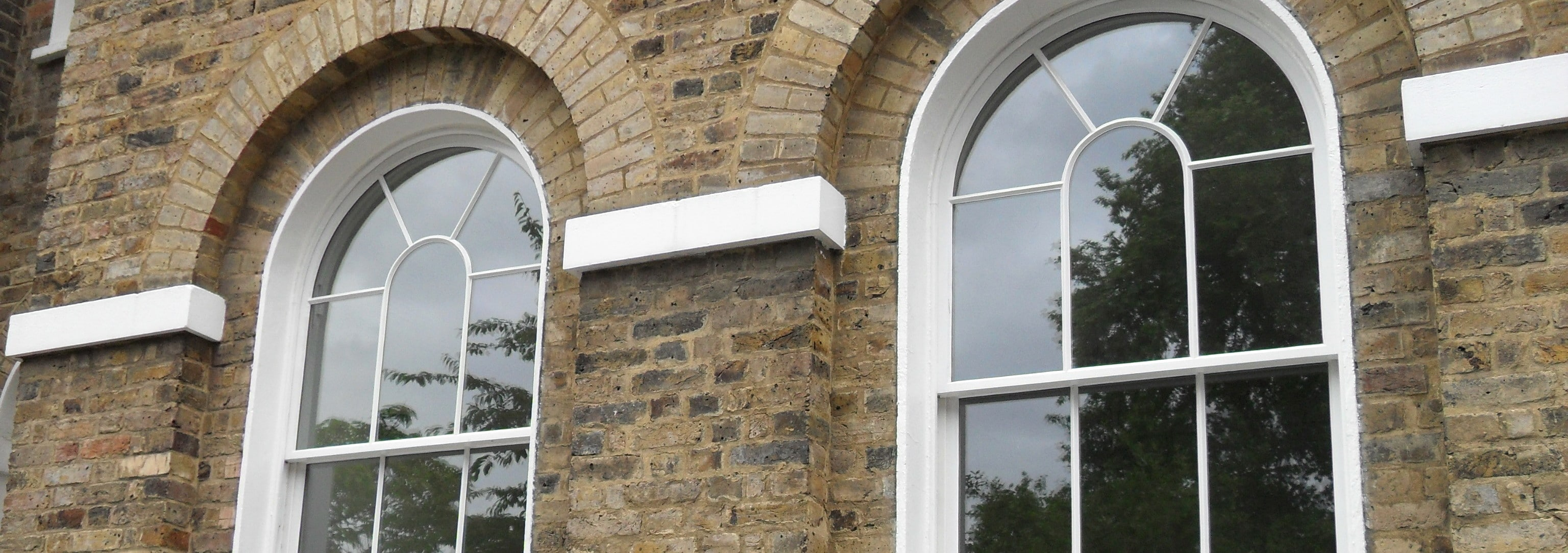 Double glazed sash windows on listed building in Greenwich, London