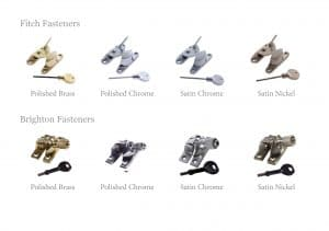 Sash fitch fasteners