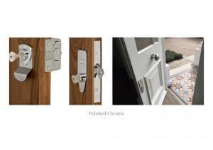 Polished chrome Banham locks