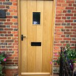 Traditional oak front door