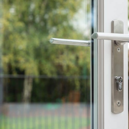 Bifolding door hardware