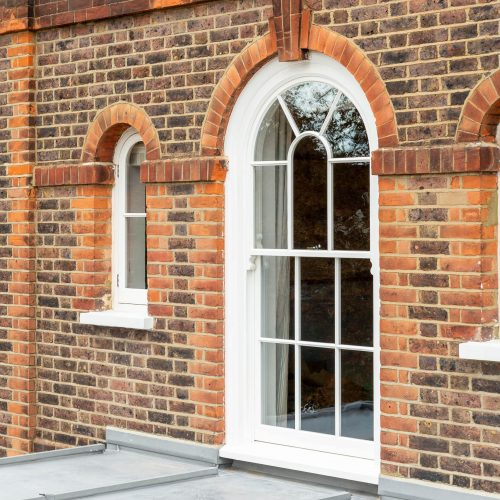 'Bicycle wheel' curved sash windows