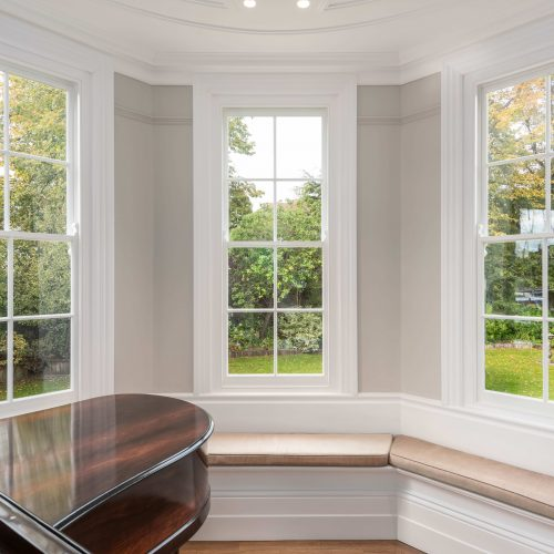 Traditional '4 over 4' sash windows with glazing bars