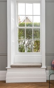 Double glazed sash windows with traditional glazing bars