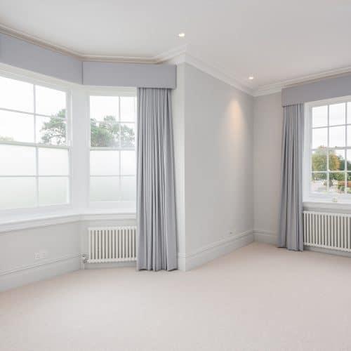 Traditional sash windows with opaque glass
