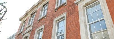 Double glazed sash windows on Conservation property