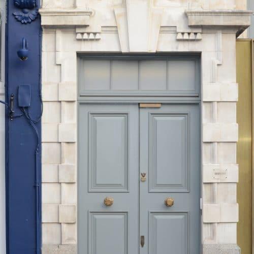 Double oak front door