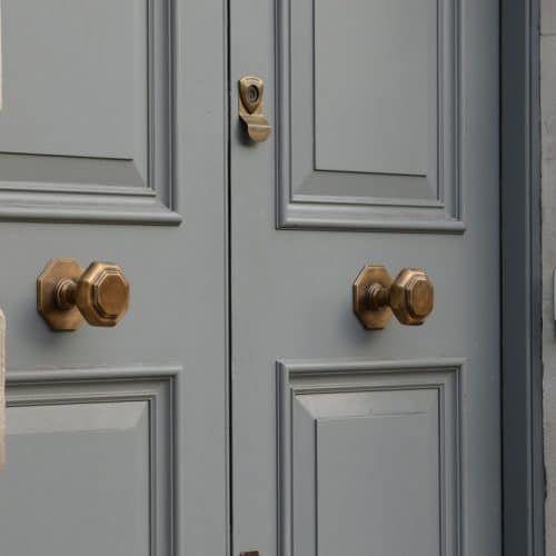 Oak front door hardware