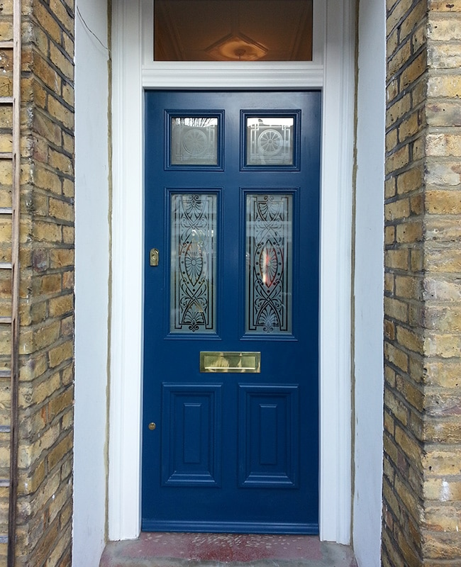 Front door with patterned glass & Custom Built External Solid Oak Front Doors in London - Timbawood pezcame.com
