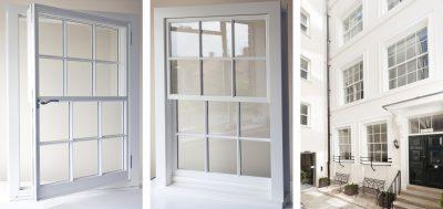Sash window as casement window - interior & exterior